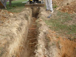 open trench excavation sewer repair near me